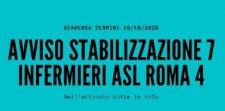 Avviso Stabilizzazione 7 Infermieri ASL Roma 4