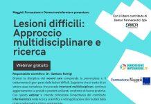 webinar gratuito Lesioni Difficili approccio multidisciplinare e ricerca